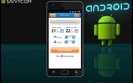 RateChex mobile for Android, RateChex on Android OS