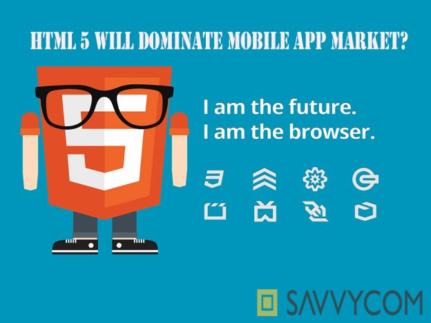 HTML5, Format language, mobile app market, Html version 5