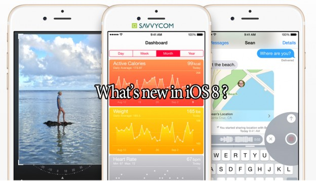 IOS 8 feature, new feature, IOS, Iphone, Apple