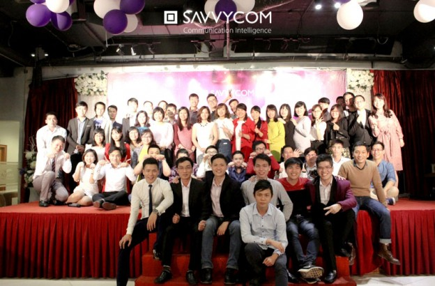 Ms. Van with her beloved Savvycom family in its sixth birthday.