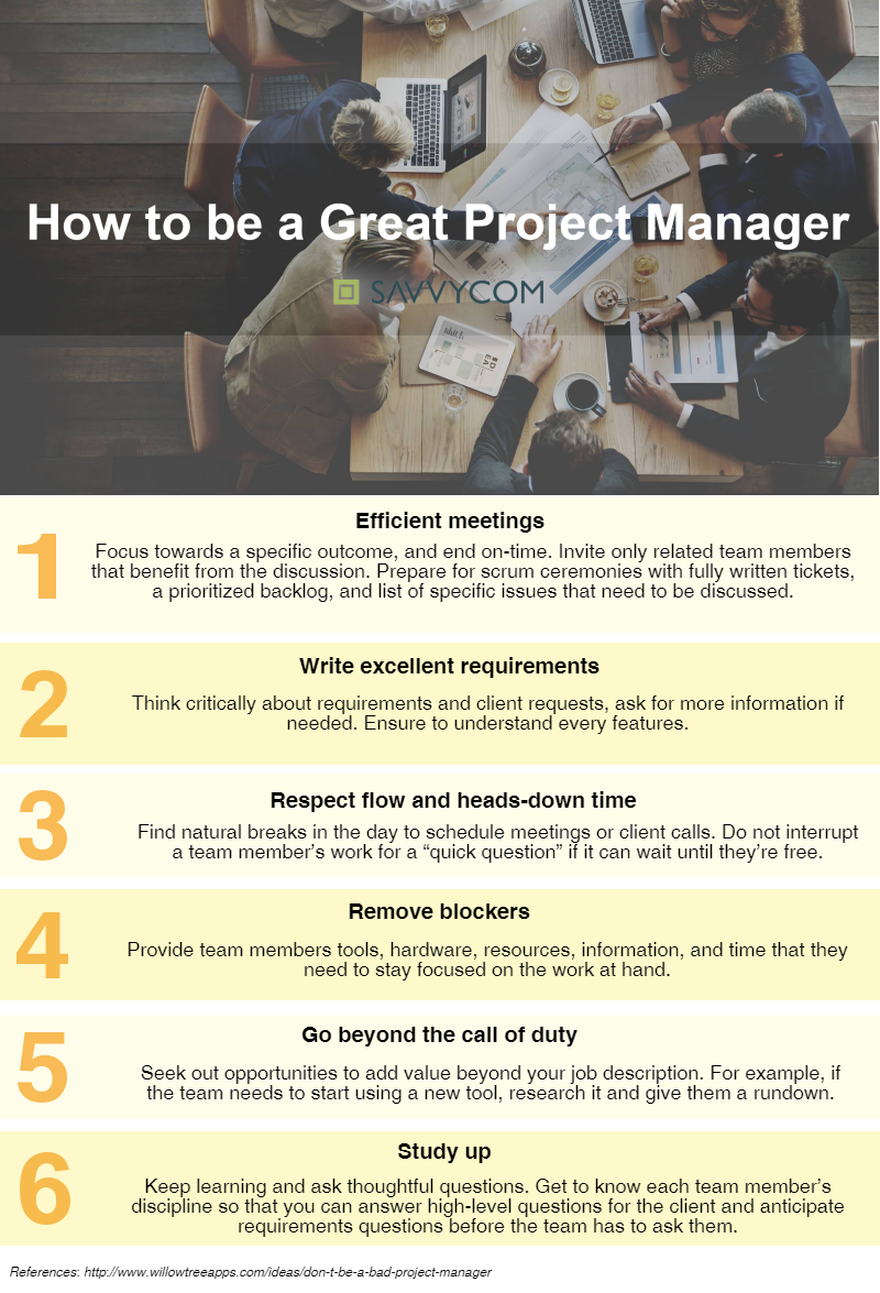 how-to-be-a-great-project-manager