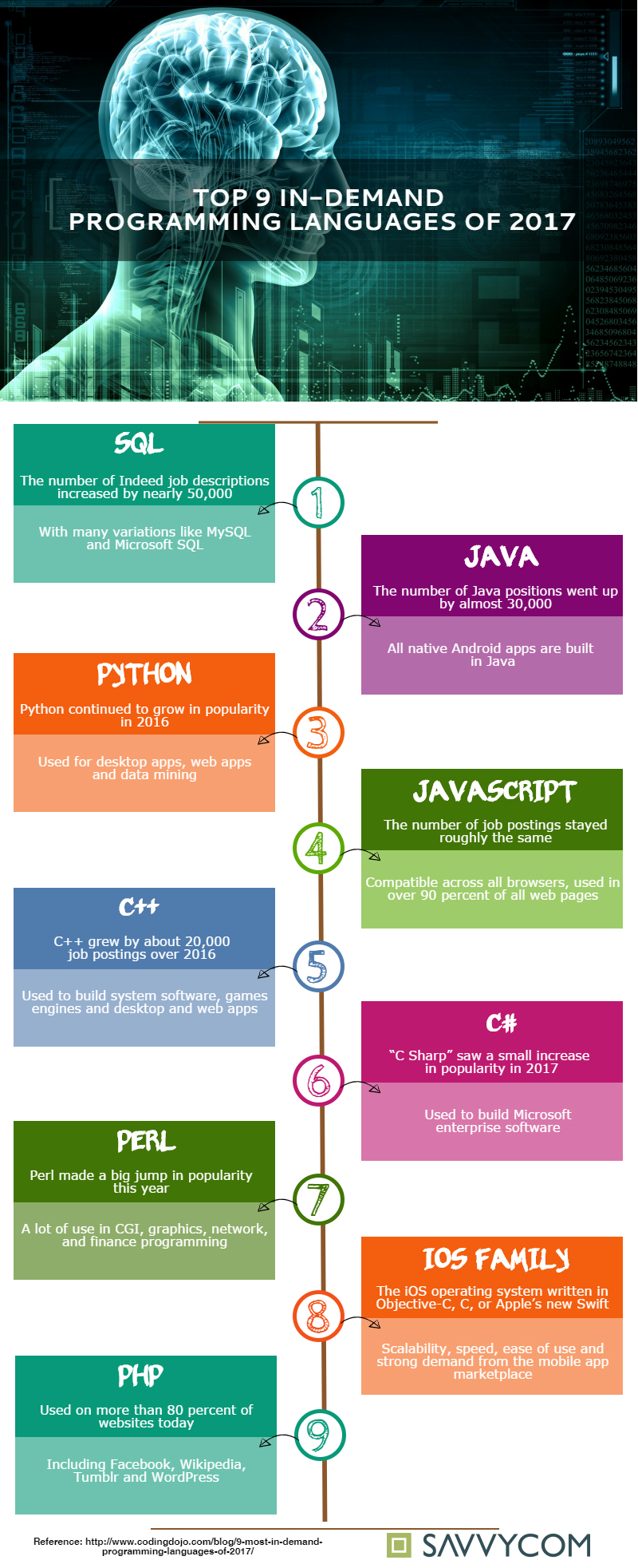 Top In-Demand Programming Languages of 2017